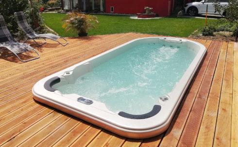 Plavecké swim spa, vířivé bazény Beluga zapuštěná varianta na terase - Canadian Spa International® - Spa Studio