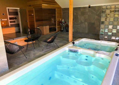 Home swim spa with countercurrent and with jacuzzi part Canadian Spa International®, model Nautilus XXL - whirlpools Spa Studio Prague