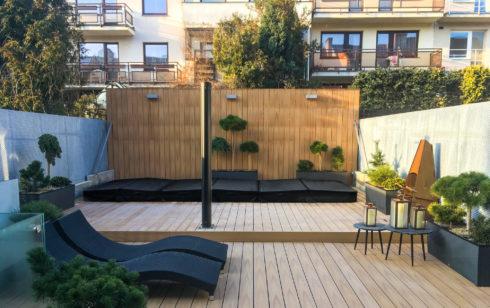 Dizajnové swim spa zabudované na terase Nautilus XXL - Spa Studio