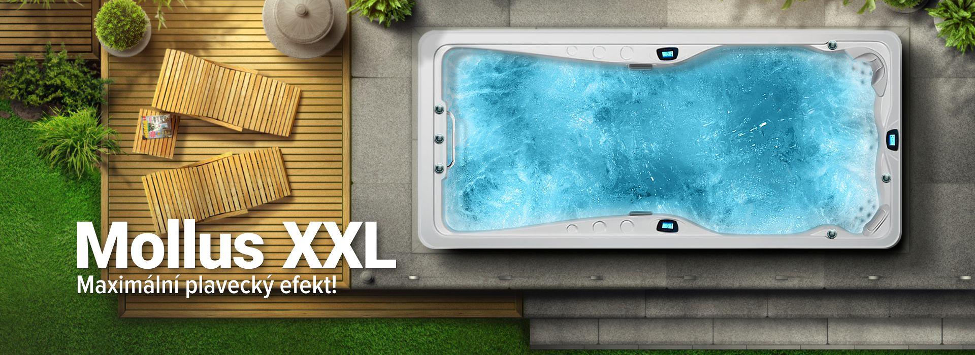 Venkovní vířivky Spa Studio: Mollus XXL - luxusní plavecké swim spa, novinka