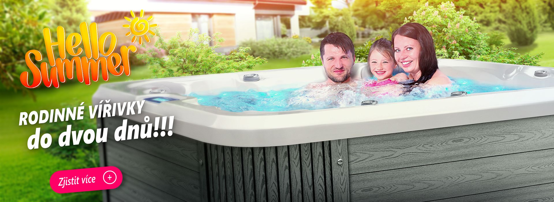 Spa Studio - Intimní rodinné vířivky Canadian Spa International® - rodinný model Nemo