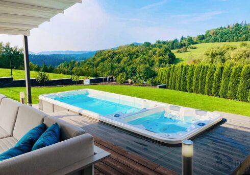 Kombinace vířivky a plaveckého swim spa s protiproudem - Canadian Spa International® - swim spa Nautilus XL