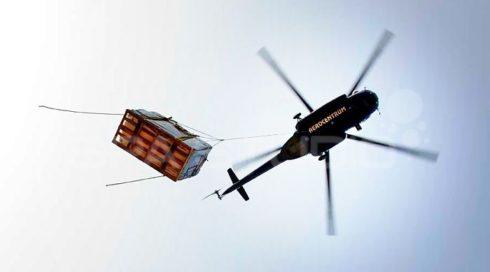 Přeprava, manipulace vířivky na střechu - Spa Studio