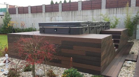 Nautilus - terasa s venkovním plaveckým swim spa - Spa Studio