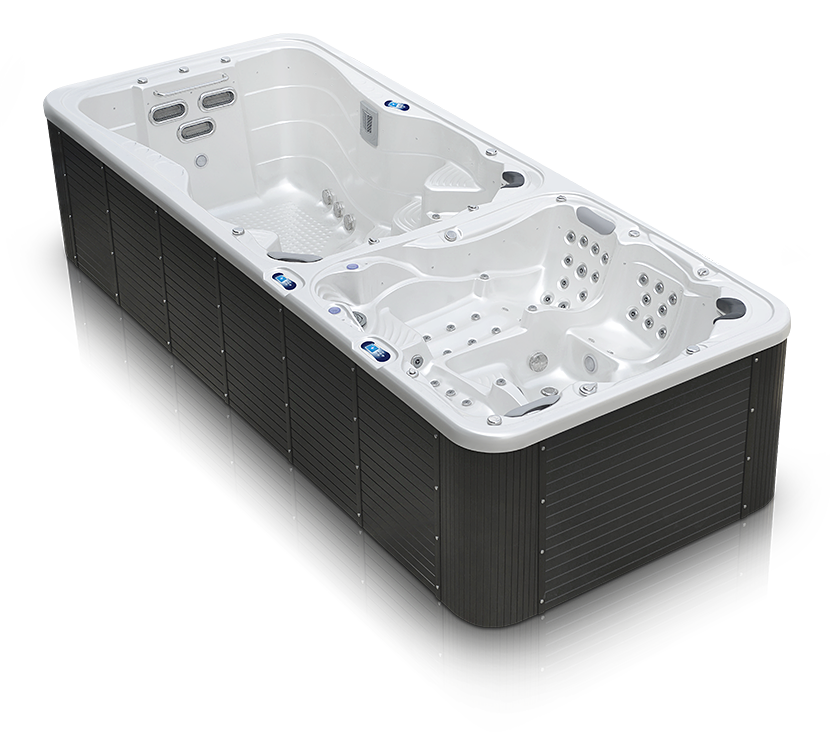 Whirlpool + swim spa Nautilus XXXL Canadian Spa International® - Outdoor hot tubs and swim spa – Spa Studio