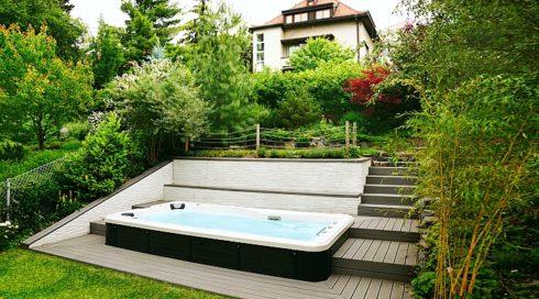 Spa Studio - Zahradní plavecké swim spa s protiproudem Mollus