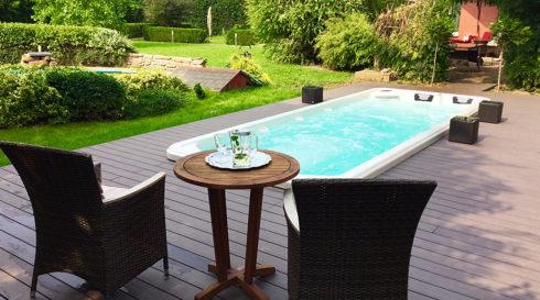 Venkovní plavecké swim spa Octopus Canadian Spa International®