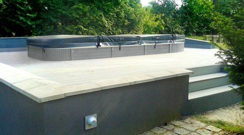 Venkovní swim spa Beluga na terase - Spa studio