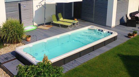 Venkovní vířivka + plavecké swim spa Octopus na zahradu - Canadian Spa International®