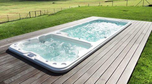 Zahradní vířivka + plavecké swim spa Nautilus XL - celoroční provoz - Spa Studio